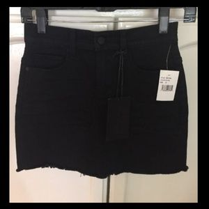 SP Black Stretch Denim Miniskirt Black
